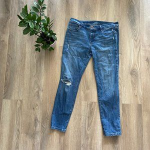 """LOFT Blue Distressed """"Relaxed Skinny"""" Jeans"""